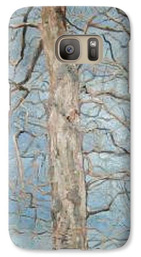 Tree Galaxy S7 Case featuring the painting Winter Morning by Leah Tomaino