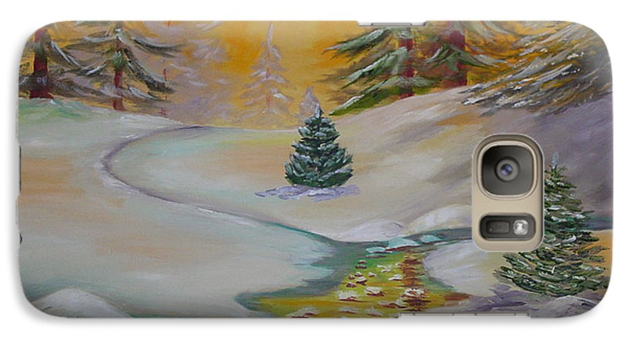Winter Galaxy S7 Case featuring the painting Winter by Quwatha Valentine