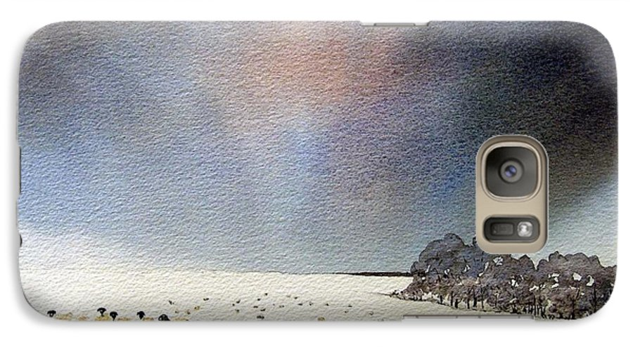 Landscape Galaxy S7 Case featuring the painting Winter Snow Swaledale by Paul Dene Marlor
