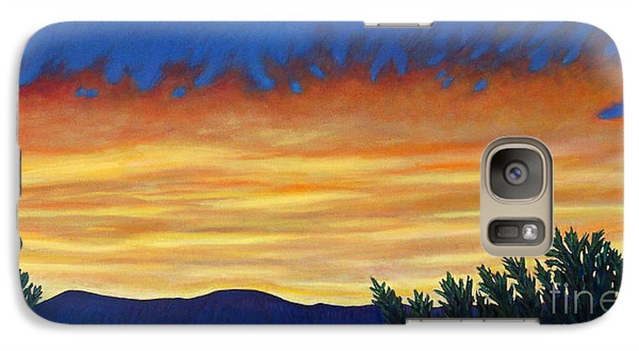 Sunset Galaxy S7 Case featuring the painting Winter Sunset In El Dorado by Brian Commerford