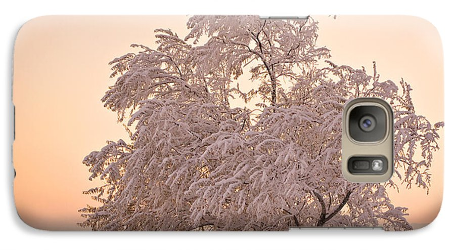 Winter Galaxy S7 Case featuring the photograph Winter Sunset by Marilyn Hunt