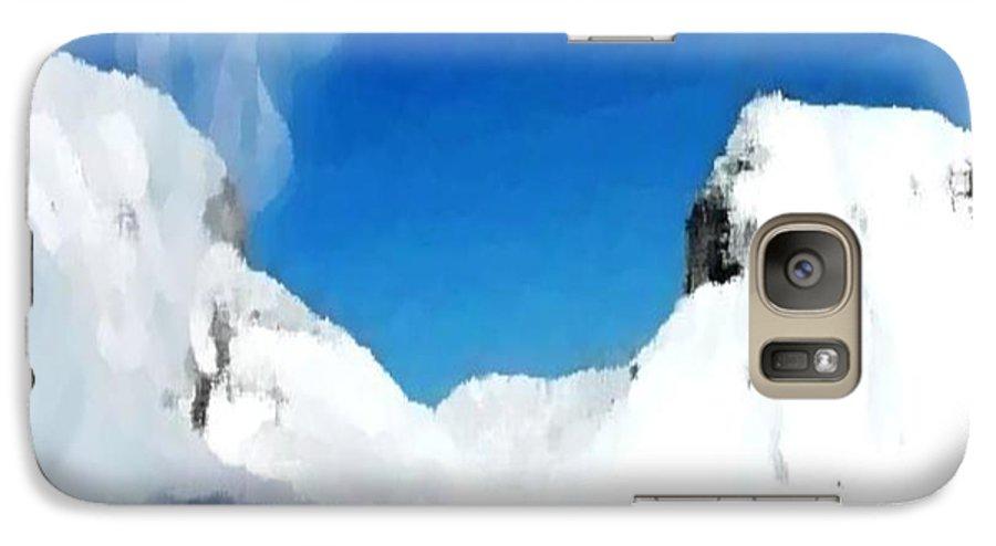 Landacape Galaxy S7 Case featuring the digital art Winter Wind by Dr Loifer Vladimir
