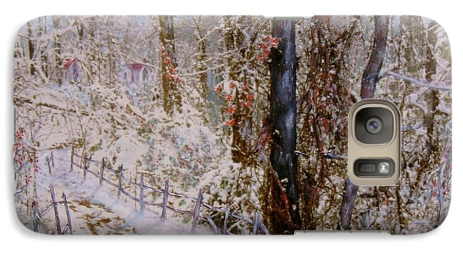 Snow; Trees Galaxy S7 Case featuring the painting Winter Wonderland by Ben Kiger