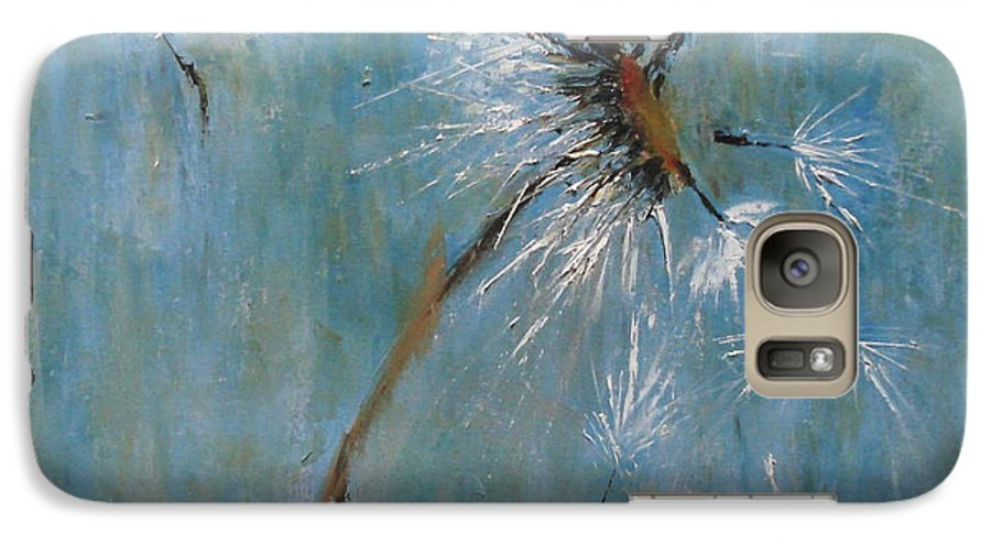 Landscape Galaxy S7 Case featuring the painting Wishes by Barbara Andolsek