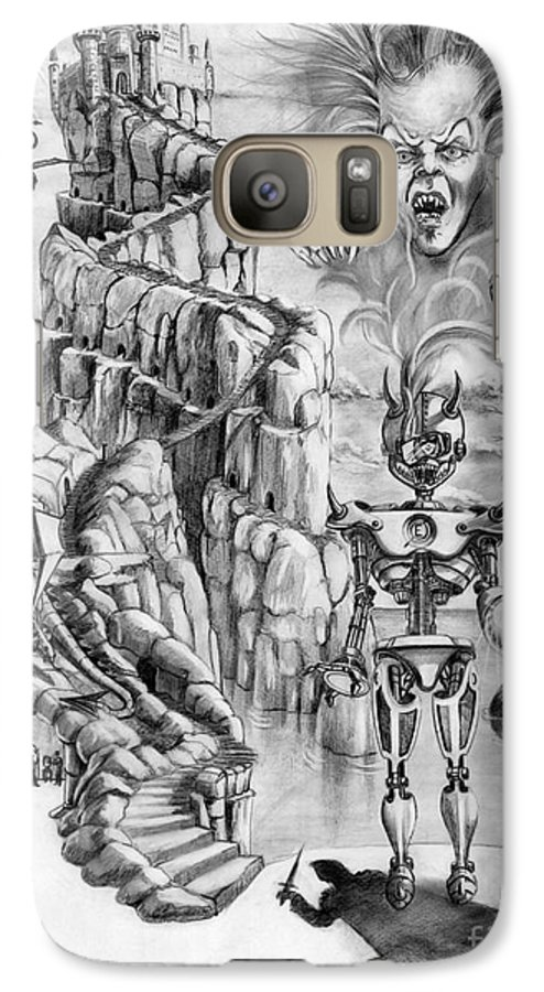 Witch Galaxy S7 Case featuring the drawing Witch Hunter by Murphy Elliott