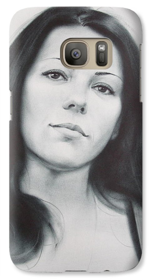 Art Galaxy S7 Case featuring the drawing Woman by Sergey Ignatenko