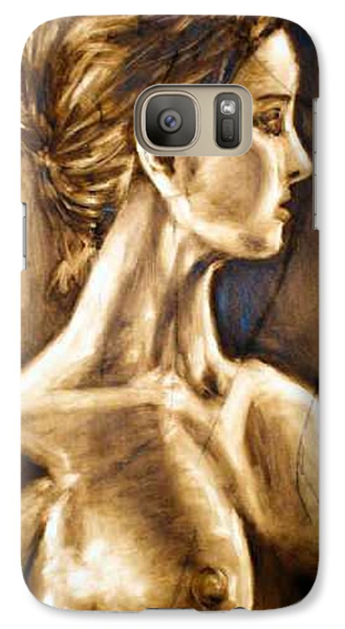 Galaxy S7 Case featuring the painting Woman by Thomas Valentine