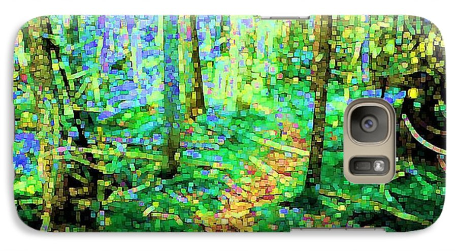 Nature Galaxy S7 Case featuring the digital art Wooded Trail by Dave Martsolf