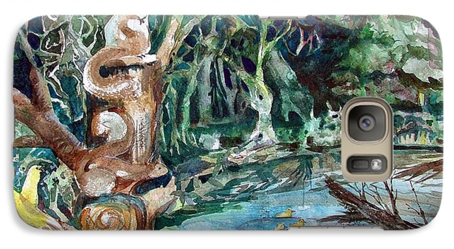 Squirrels Galaxy S7 Case featuring the painting Woodland Critters by Mindy Newman