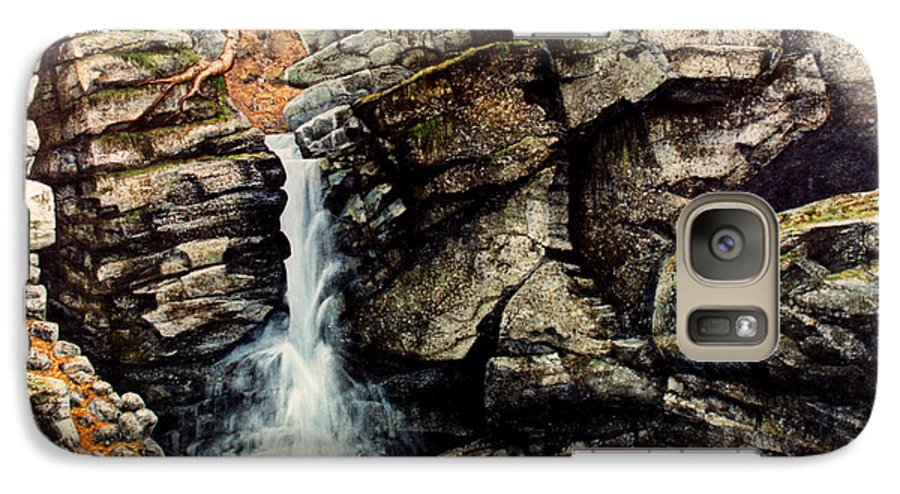 Waterfall Galaxy S7 Case featuring the painting Woodland Falls by Frank Wilson