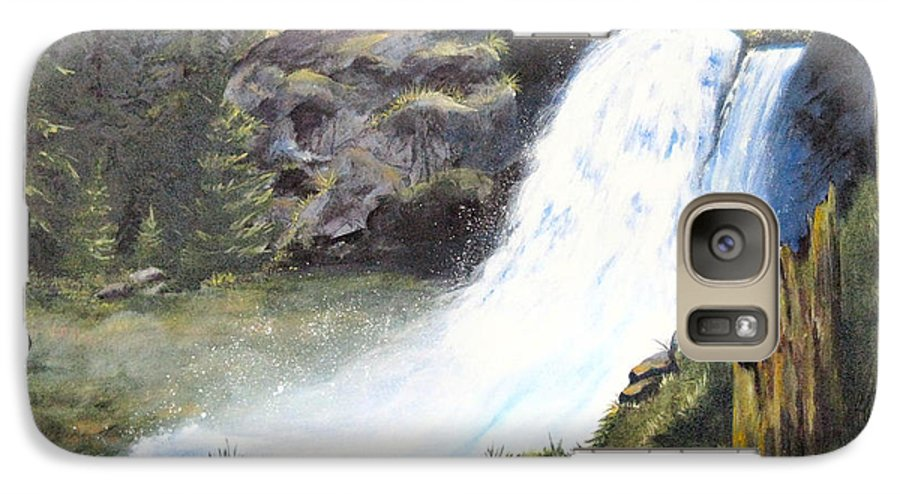 Forest Galaxy S7 Case featuring the painting Woodland Respite by Karen Stark