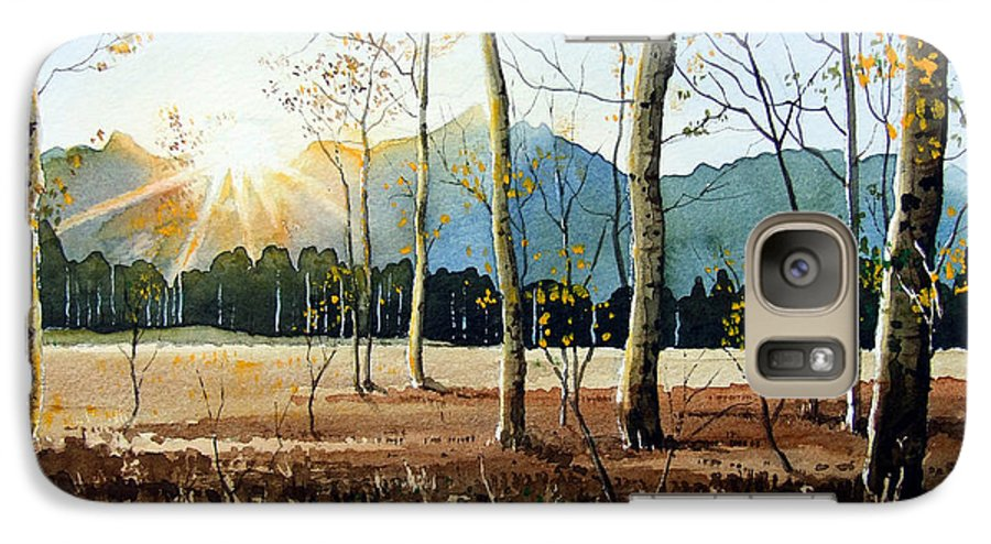 Landscape Galaxy S7 Case featuring the painting Woodland Sunset by Paul Dene Marlor