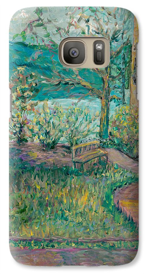 Big Cedar Lodge Galaxy S7 Case featuring the painting Worman House At Big Cedar Lodge by Nadine Rippelmeyer