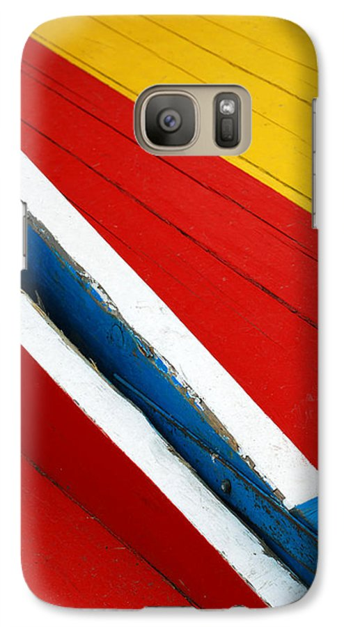 Red Galaxy S7 Case featuring the photograph Xochimilco Boat Abstract 1 by Skip Hunt