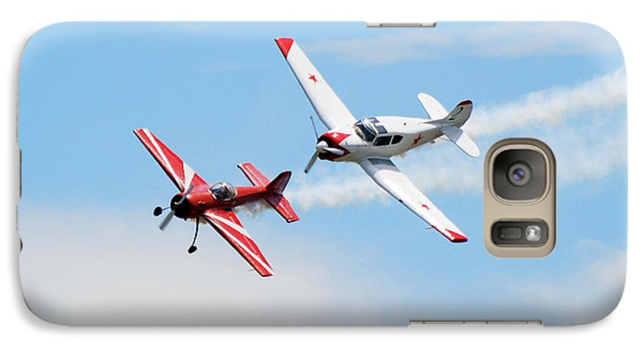Airplanes Galaxy S7 Case featuring the photograph Yak 55 And Yak 18 by Larry Keahey
