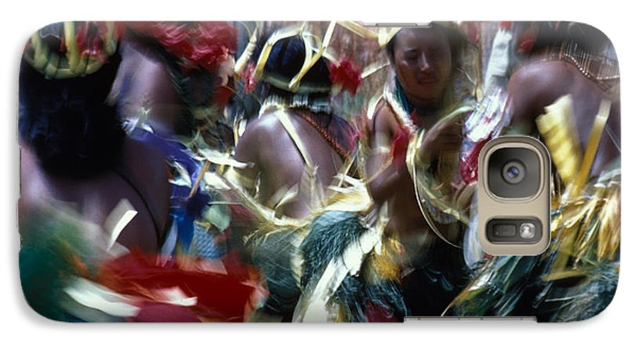 Swirling Galaxy S7 Case featuring the photograph Yap Dancers In Micronesia by Carl Purcell