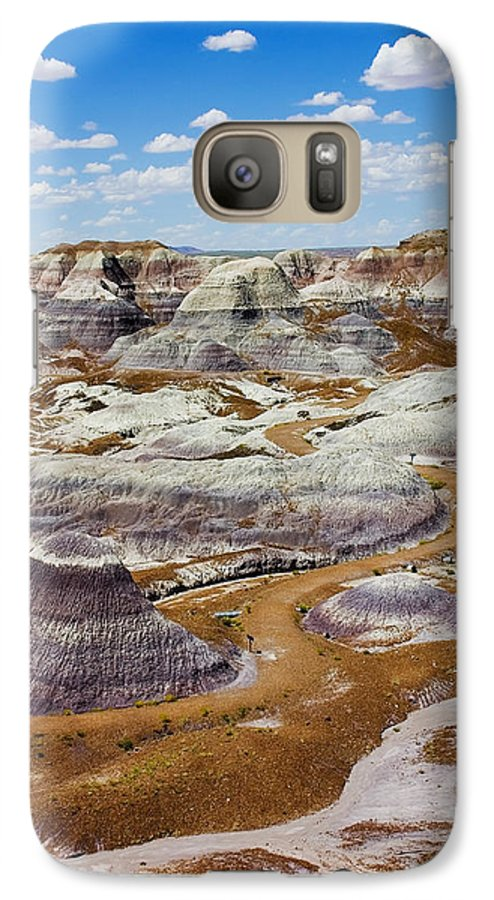 Painted Desert Galaxy S7 Case featuring the photograph Yea Though I Walk by Skip Hunt