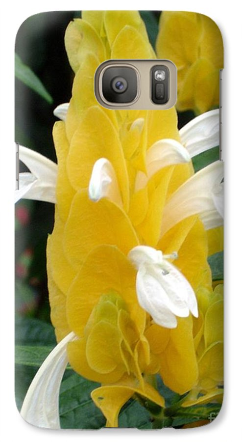 Flower Galaxy S7 Case featuring the photograph Yellow Eruption by Shelley Jones