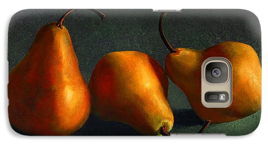 Still Life Galaxy S7 Case featuring the painting Yellow Pears by Frank Wilson