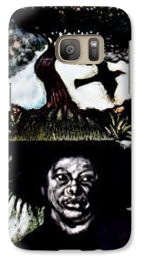 Religous Galaxy S7 Case featuring the mixed media Yemiya by Chester Elmore