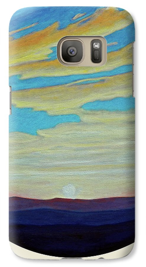 Landscape Galaxy S7 Case featuring the painting Yesterday by Brian Commerford