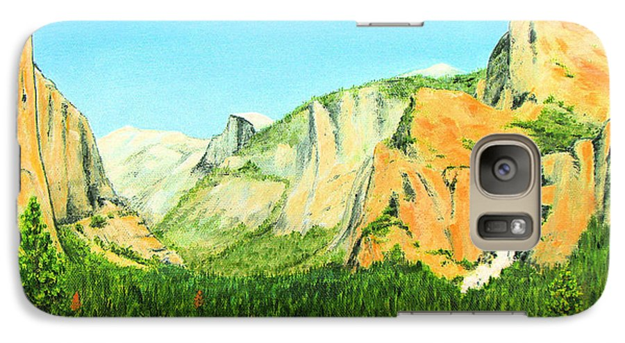 Yosemite National Park Galaxy S7 Case featuring the painting Yosemite National Park by Jerome Stumphauzer
