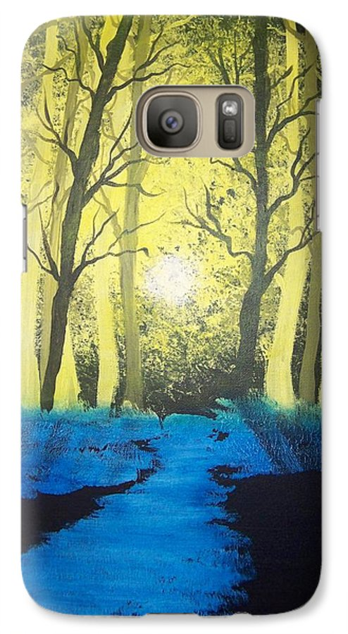 Forest Galaxy S7 Case featuring the painting You Cant See The Forest For The Trees by Laurie Kidd