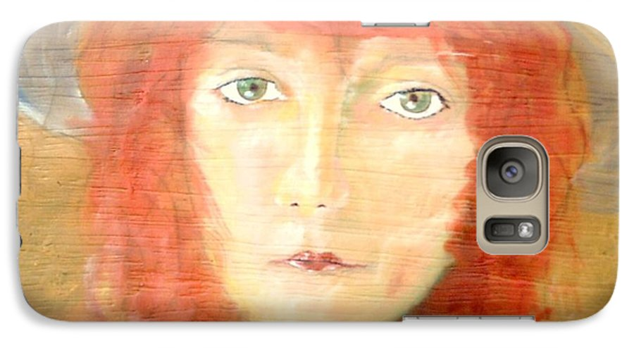 Woman Galaxy S7 Case featuring the painting You Found My Hat by J Bauer