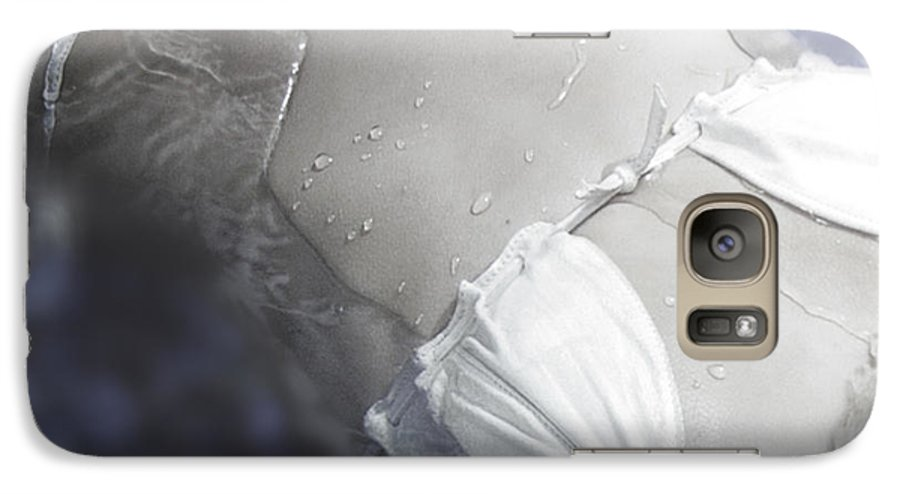 Female Galaxy S7 Case featuring the photograph Young Woman In Whirl Pool by Christine Till
