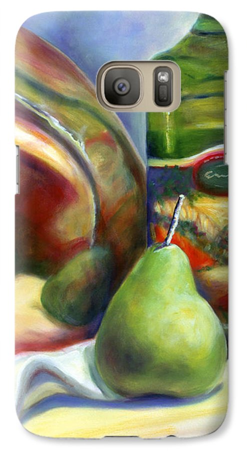 Copper Vessel Galaxy S7 Case featuring the painting Zabaglione Pan by Shannon Grissom