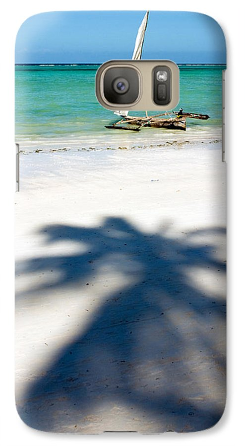 3scape Galaxy S7 Case featuring the photograph Zanzibar Beach by Adam Romanowicz