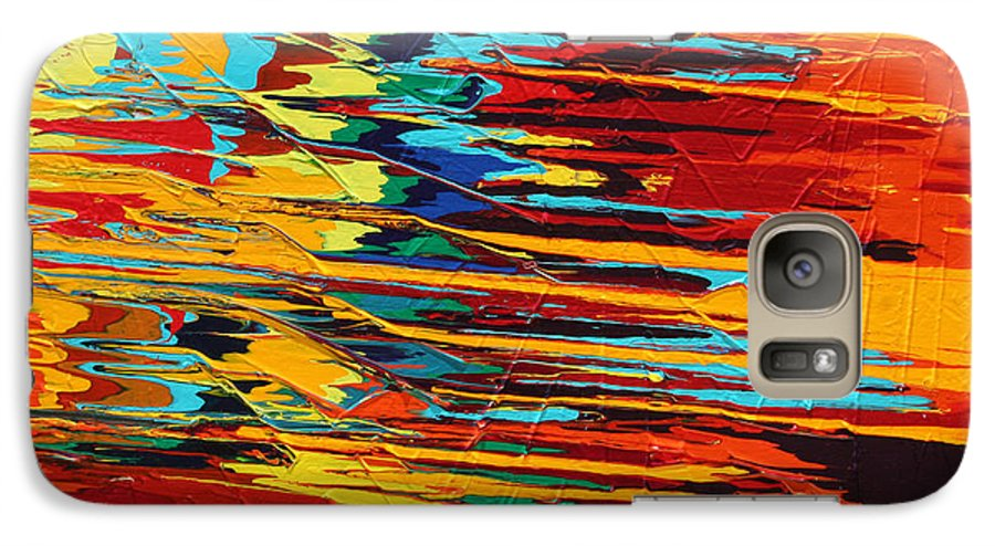 Fusionart Galaxy S7 Case featuring the painting Zap by Ralph White