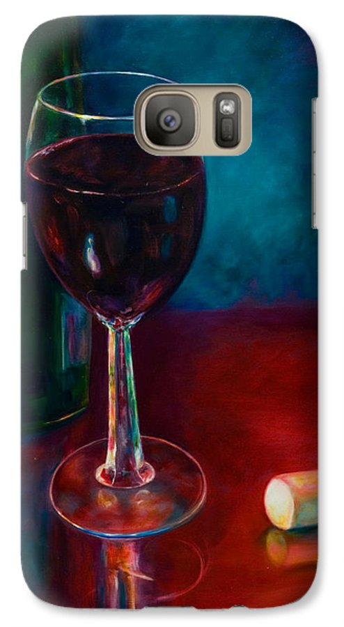 Wine Bottle Galaxy S7 Case featuring the painting Zinfandel by Shannon Grissom