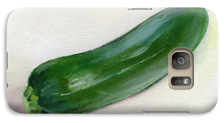 Food Galaxy S7 Case featuring the painting Zucchini by Sarah Lynch