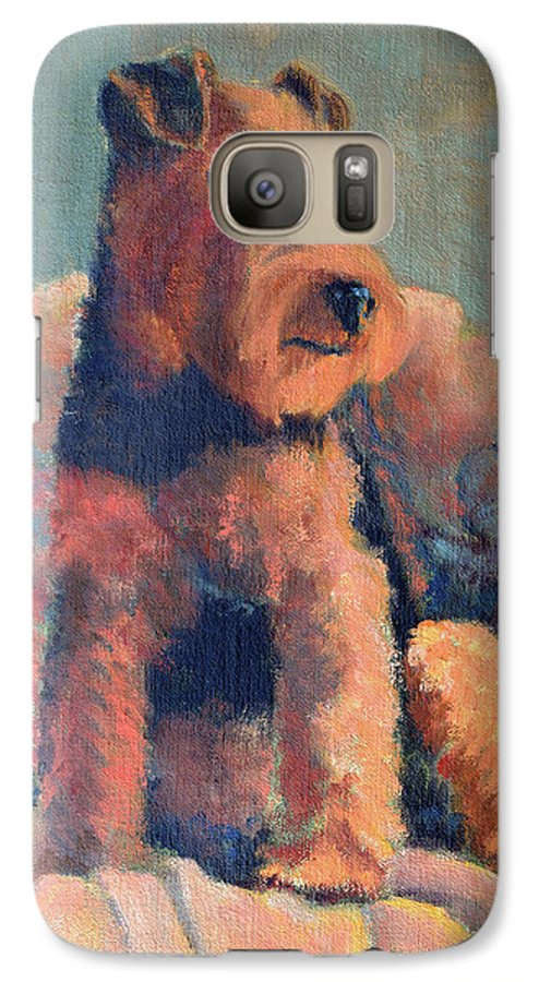 Pet Galaxy S7 Case featuring the painting Zuzu by Keith Burgess