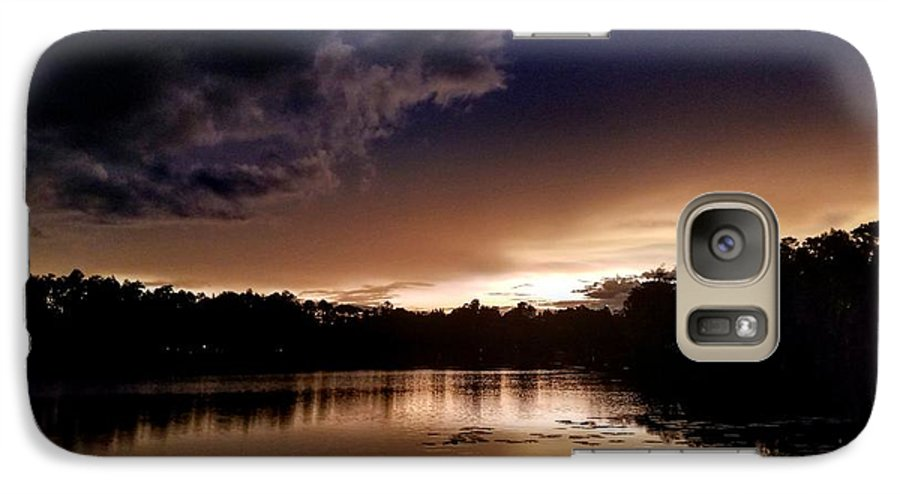 Sunset Galaxy S7 Case featuring the photograph Dark Reflections by Shena Sanders