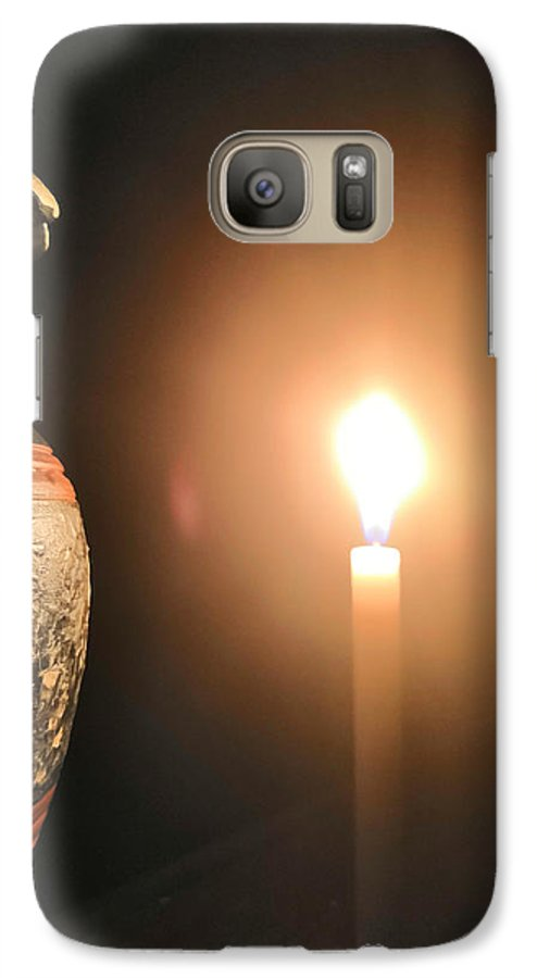 Candle Light Galaxy S7 Case featuring the photograph Light In The Dark by Ian Batanda