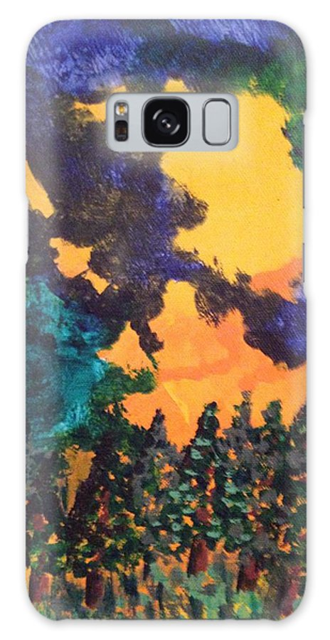 Forest Fire Galaxy S8 Case featuring the painting A Hotshot Fire by Erika Chamberlin