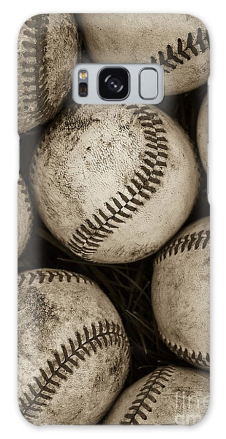 Baseball Galaxy Case featuring the photograph Baseballs by Diane Diederich