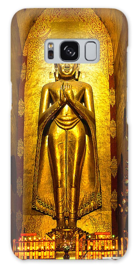 Ancient Galaxy S8 Case featuring the photograph Buddha Inside Ananda Temple - Bagan - Myanmar by Luciano Mortula