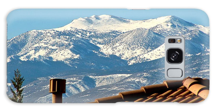 Clear Day Galaxy S8 Case featuring the photograph Cold Day New Snow Up There by Phyllis Kaltenbach