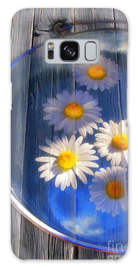 Art Galaxy S8 Case featuring the photograph Five Daisies by Veikko Suikkanen