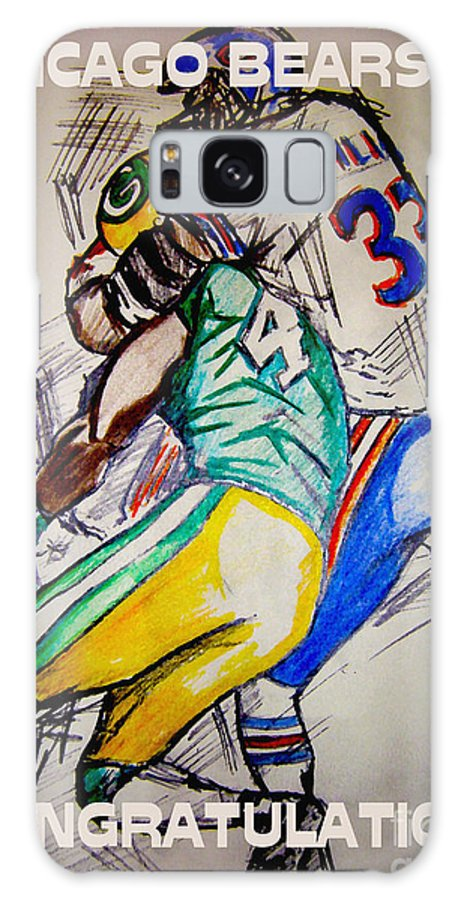 Sports Galaxy S8 Case featuring the drawing Footballs Greatest by Sidney Holmes