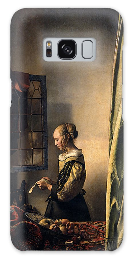 Jan Vermeer Galaxy S8 Case featuring the painting Girl Reading A Letter By An Open Window by Johannes Vermeer