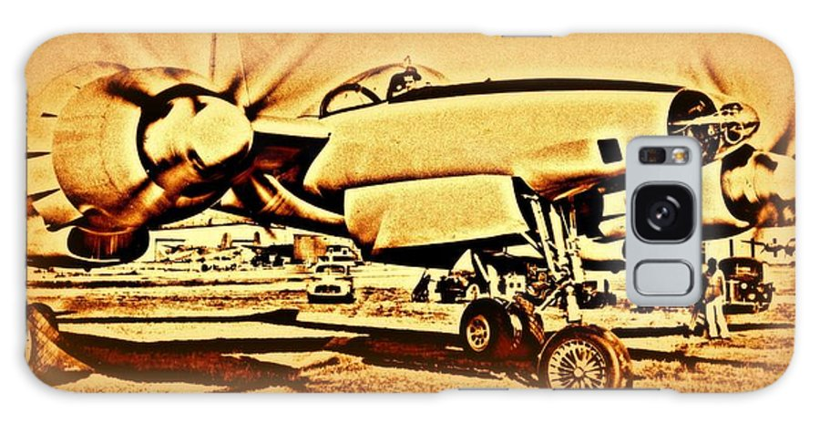3202 Galaxy S8 Case featuring the photograph  Howard Hughes And The Hughes Xf-11 by Hank Clark