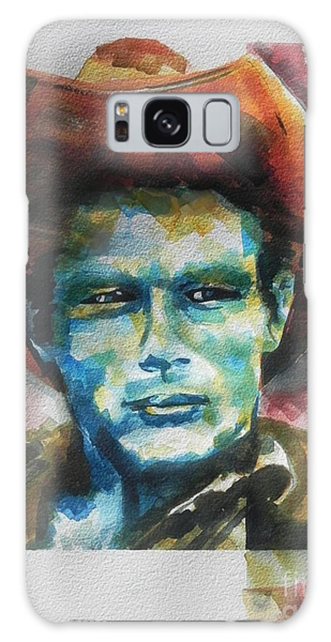 Watercolor Painting Galaxy S8 Case featuring the painting James Dean by Chrisann Ellis