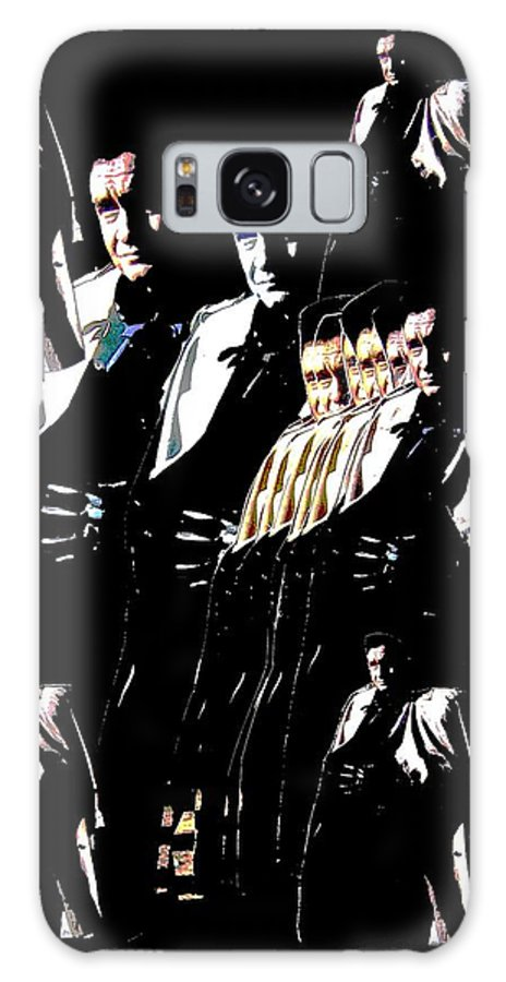 Johnny Cash Trench Coat Film Noir Old Tucson Arizona Surrealism Color Added Collage Galaxy S8 Case featuring the photograph Johnny Cash Multiplied by David Lee Guss