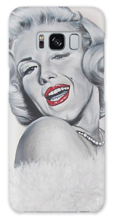 Marilyn Monroe Galaxy Case featuring the painting Marilyn Monroe by Eric Dee