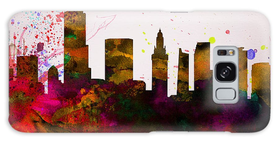 Miami Galaxy S8 Case featuring the painting Miami City Skyline by Naxart Studio