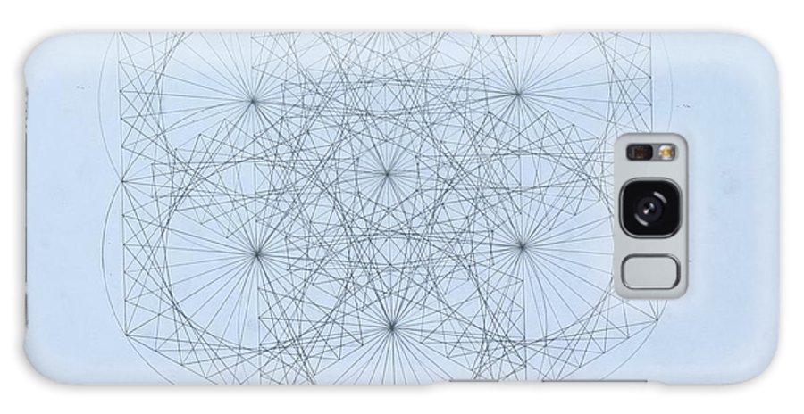 Jason Padgett Galaxy S8 Case featuring the drawing Quantum Snowflake by Jason Padgett
